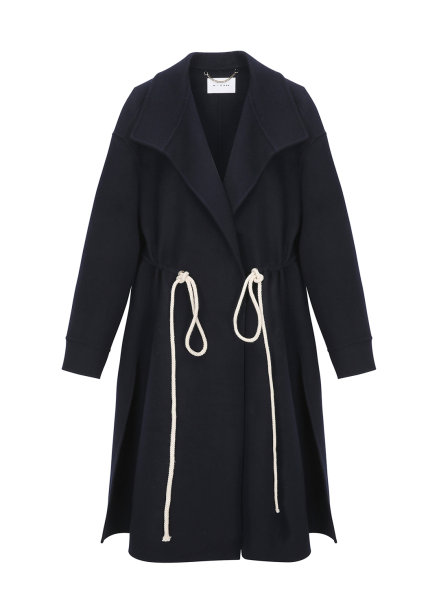 Cashmere Waist String Slirt Coat