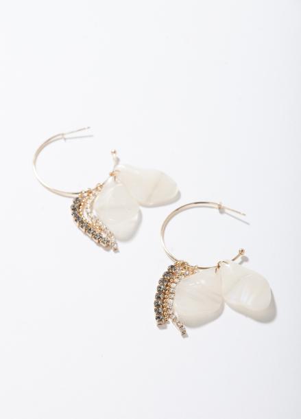 [TATIANA]WHITE ANDRA HOOP EARRING