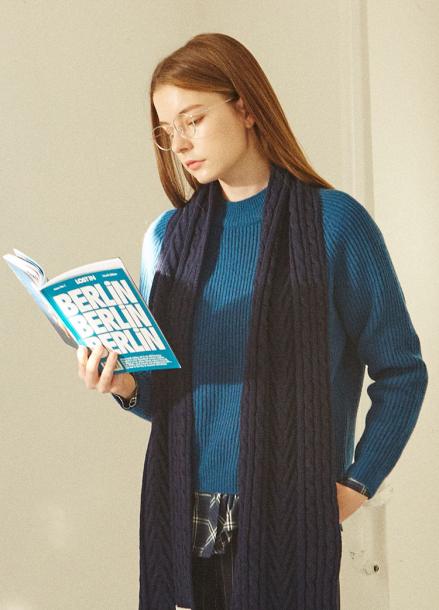[IHATEMONDAY] Lambswool Knit Blue