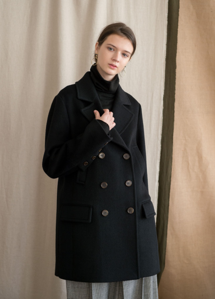 [NOCOCHIC/고객감사전/5%+5%COUPON]H_LINE TAILORED COAT [BK]