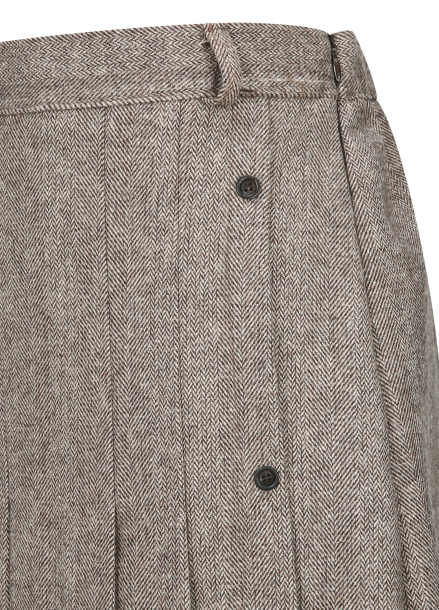 ★ Herringbone Pleats Long Skirt [주문폭주/리오더진행]