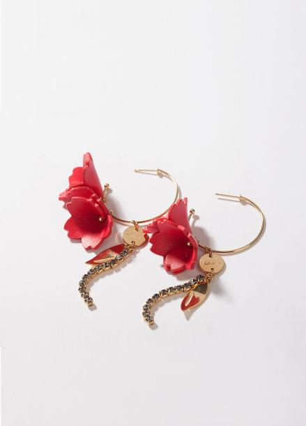 [TATIANA/17FW/10%+5%COUPON]MUSIQUE FLOWER HOOP EARRING