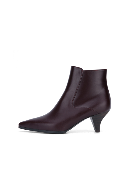 ○Leather Stiletto Ankle Boots