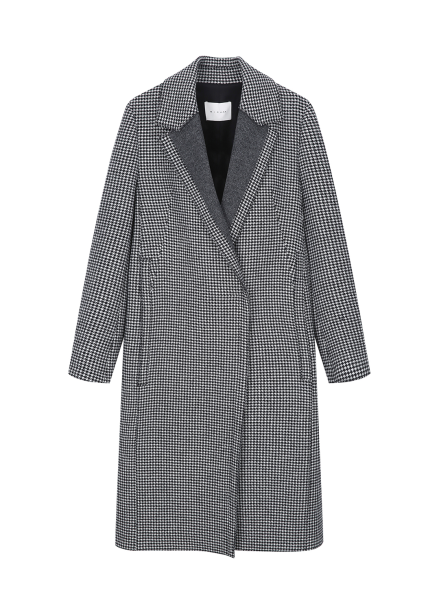 Hound's Tooth Check Coat