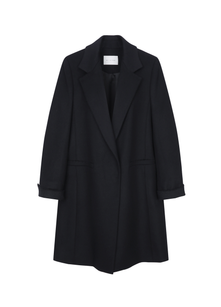 Lining Colorblock Wool Coat