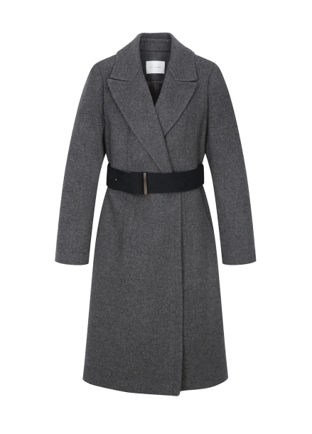 Suede Belt Cashmere Coat