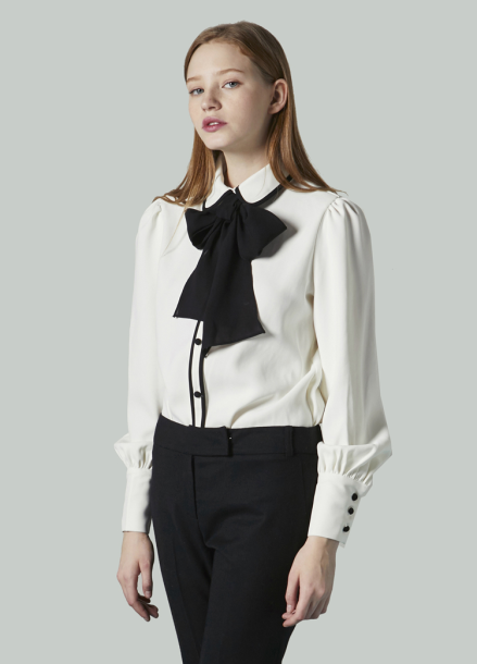 [JUST IN SYTLE/17WINTER/10%+5%쿠폰] Ribbon Blouse