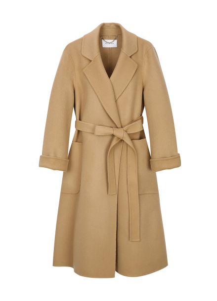 Wool Cashmere Pocket Robe Coat