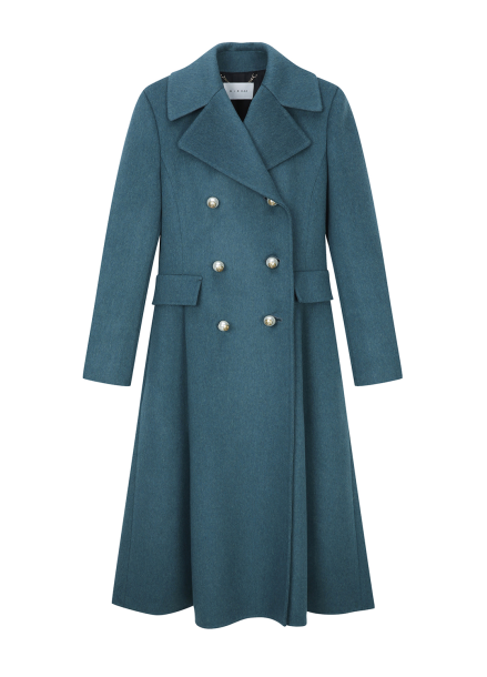 Pearl Button Cashmere Coat
