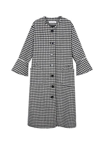 [RINGMYBELL] HOUNDTOOTH BELLLINE SLEEVE COAT<br>[PRE-ORDER 진행]