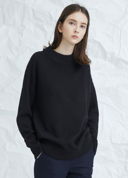 [MILLOGLEM/17WINTER/7%SALE] snuggle sweater - black