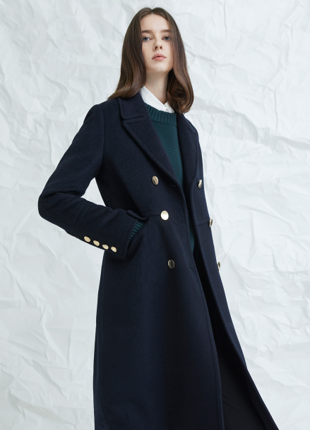 [MILLOGLEM/연말결산세일/30%] avec double breasted coat - navy