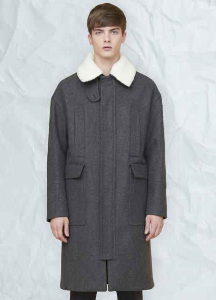 [MILLOGLEM/연말결산세일/30%] grema zipper coat - gray