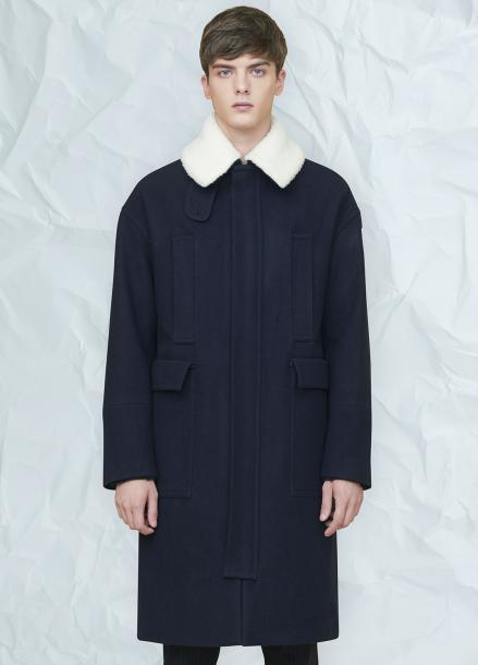 [MILLOGLEM/연말결산세일/30%] grema zipper coat - navy
