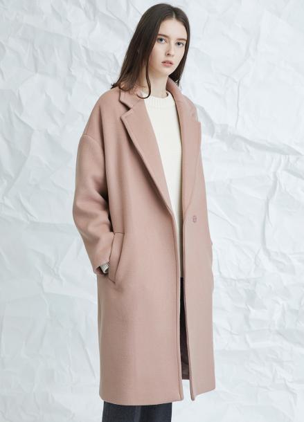 [MILLOGLEM/연말결산세일/30%] muted pink snap coat - pink