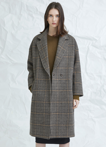[MILLOGLEM/연말결산세일/30%] replier snap coat - brown