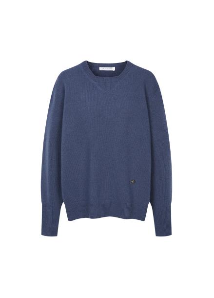 Back Slit Design Wool Pullover