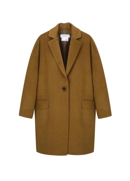 ★ Single Button Cocoon-Fit Coat