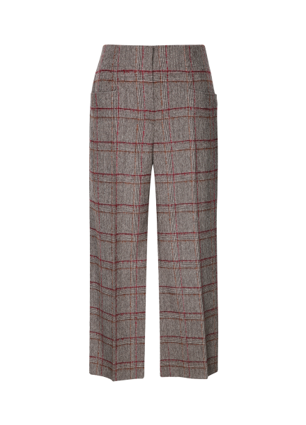 Check Patterned Wide Fit Pants