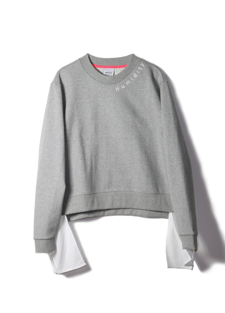 COTTON MATCHING SWEATSHIRTS-MELANGE GREY