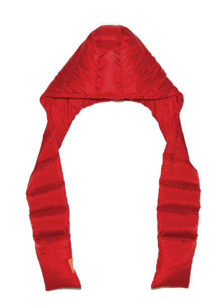 POCKET HOODY MUFFLER-RED