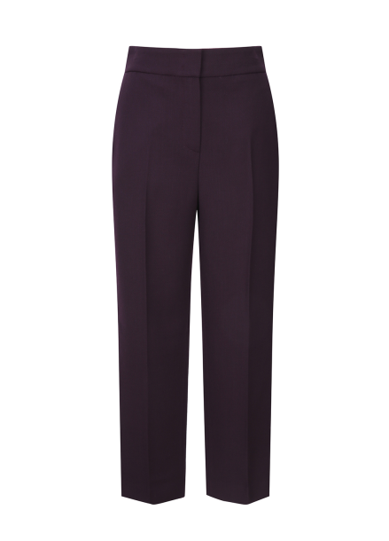 High Waist Colorful Wool Pants