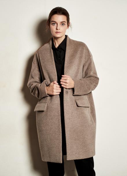 [The Kstory] Simple Wool Coat _ Beige