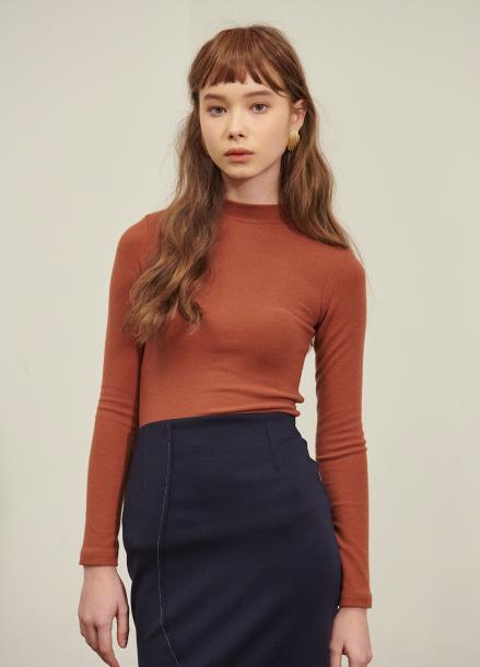 [SALON DE YOHN/시즌오프 단독30%]Basic T (기모)_3colors (Red Brown, Beige, Grey)