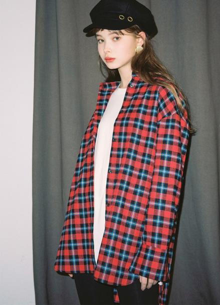 [SALON DE YOHN/시즌오프 단독30%]Check Shirt_2colors(White,Red)