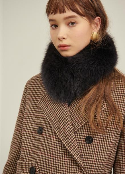 [SALON DE YOHN/10%+5%쿠폰]Fox Fur Muffler_2colors(DarkGrey,DarkNavy)