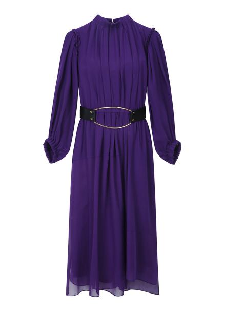 Purple Belt Point Dress