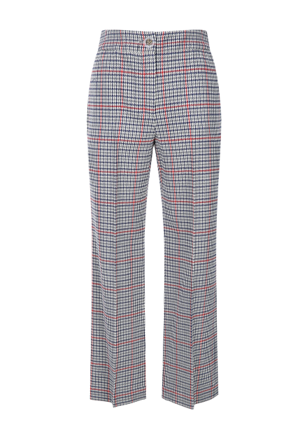 Check Patterned Straight Fit Pants