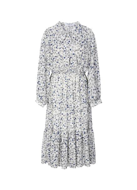 Chiffon Hemline Frill Detail Dress