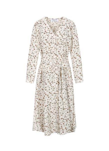 Floral Belted Robe Dress