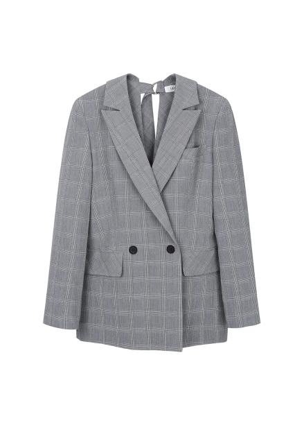 Back Side Strap Detail Check Jacket <BR>[예약판매/3월2일 입고예정]