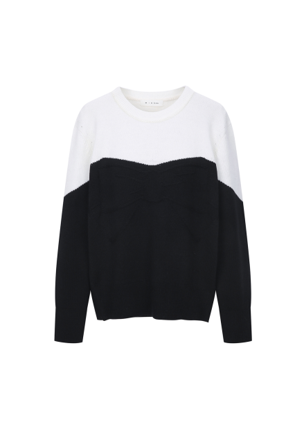 Ribbon Colorblock Pullover