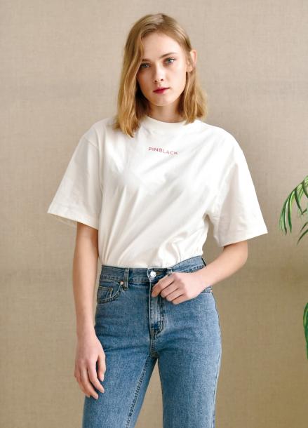 [PINBLACK] signiture logo T-shirts WHITE
