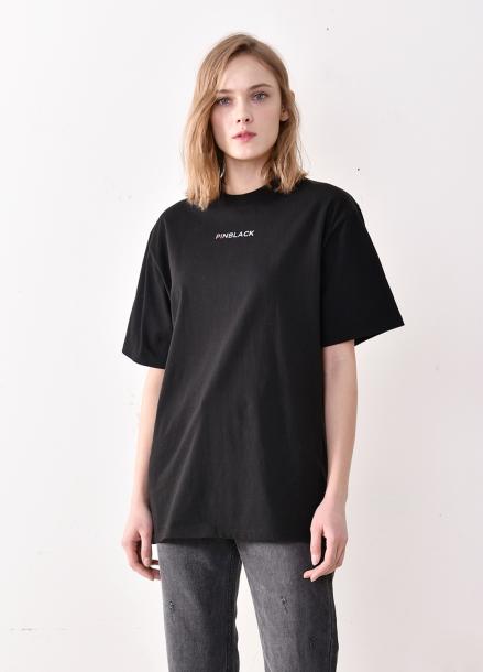 [PINBLACK★러블리즈 미주착용] signiture logo T-shirts BLACK