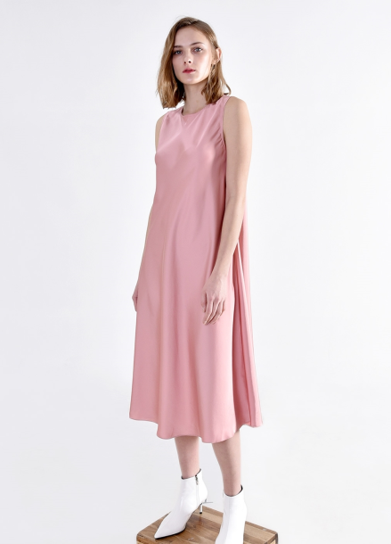[PINBLACK] satin fluid Dress PINK