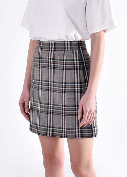 [PINBLACK/5%+5%SALE] CLASSIC CHECK SET-UP SKIRTS GREEN