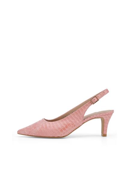 Python Skin Slingback Shoes