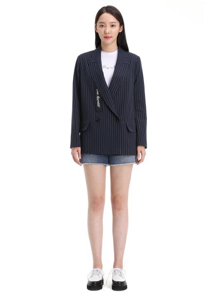 Stripe Lettering Jacket
