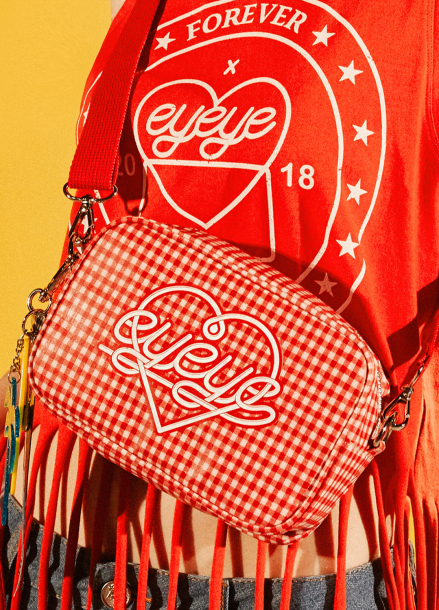 [EYEYE/18SS 5%+5%COUPON] EYEYE CHECK POUCH BAG_RED (EEOG1BAY02W)