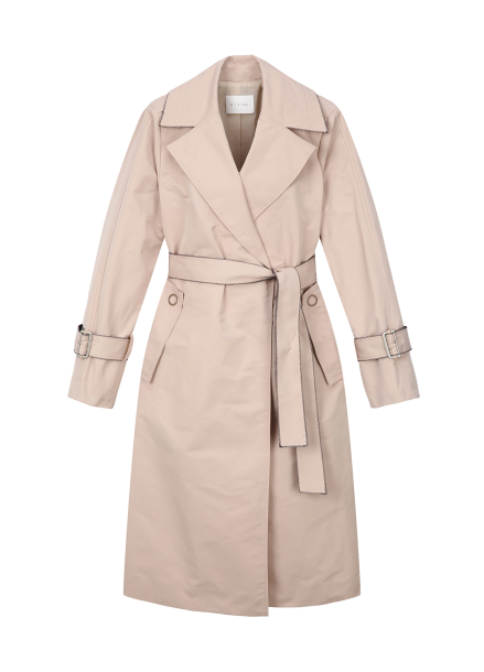 Sleeve Strap Point Trench Coat