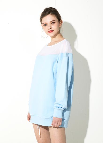 [ATICLE/18SS 신상 5%+5%쿠폰] 18SS Mesh lace sweatshirt