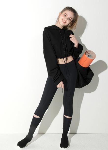 [ATICLE/18SS 신상 5%+5%쿠폰] 18SS String long sleeve hoodie