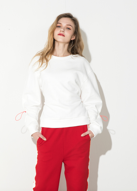 [ATICLE/18SS 신상 5%+5%쿠폰] 18SS String Volume Sweatshirt - IVORY