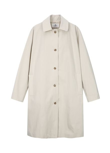 Cotton Single Button Trench Coat