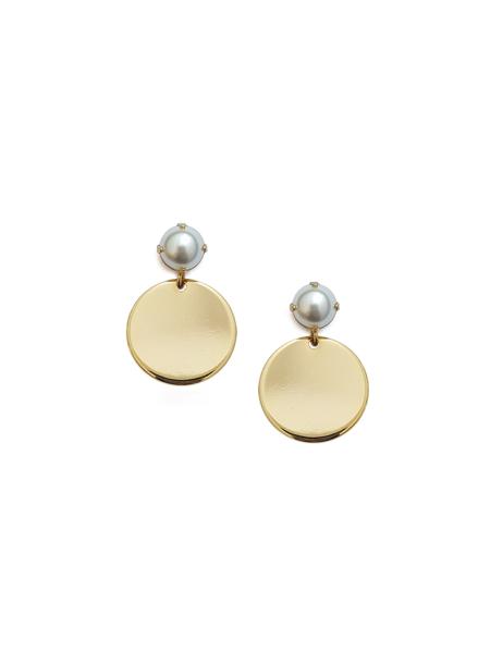[BLACKSHOWROOM] gold coin pearl E