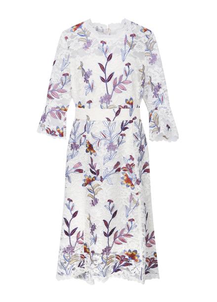 Flower Pattern Lace Dress